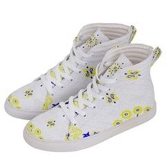 Faded Yellow Bandana Women s Hi Top Skate Sneakers by dressshop
