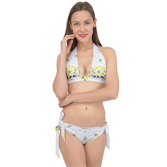 Faded Yellow Bandana Tie It Up Bikini Set by dressshop