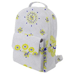 Faded Yellow Bandana Flap Pocket Backpack (small) by dressshop