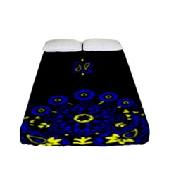 Blue Yellow Bandana Fitted Sheet (full/ Double Size) by dressshop