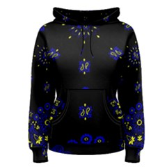 Blue Yellow Bandana Women s Pullover Hoodie by dressshop