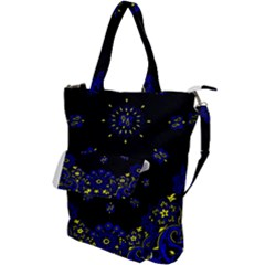 Blue Yellow Bandana Shoulder Tote Bag by dressshop