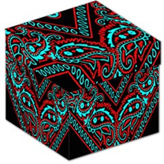 Blue And Red Bandana Storage Stool 12   by dressshop