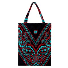Blue And Red Bandana Classic Tote Bag by dressshop