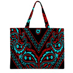 Blue And Red Bandana Zipper Mini Tote Bag by dressshop