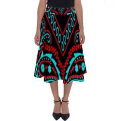 Blue And Red Bandana Perfect Length Midi Skirt by dressshop