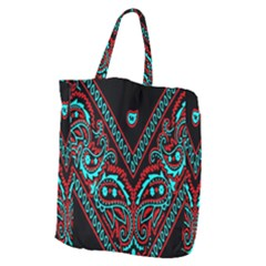 Blue And Red Bandana Giant Grocery Tote by dressshop