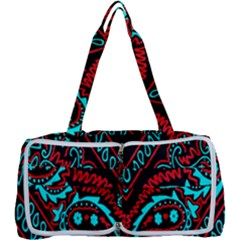 Blue And Red Bandana Multi Function Bag by dressshop