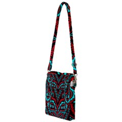 Blue And Red Bandana Multi Function Travel Bag by dressshop