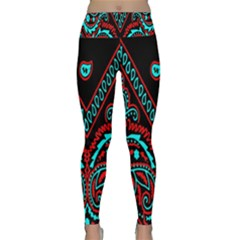 Blue And Red Bandana Lightweight Velour Classic Yoga Leggings