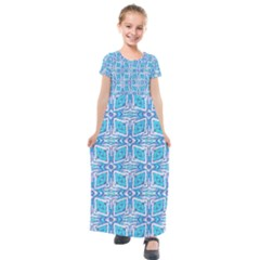 Geometric Doodle 1 Kids  Short Sleeve Maxi Dress by dressshop