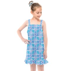 Geometric Doodle 1 Kids  Overall Dress
