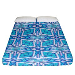 Geometric Doodle 1 Fitted Sheet (king Size) by dressshop