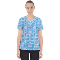 Geometric Doodle 1 Women s V Neck Scrub Top by dressshop