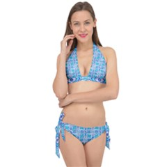 Geometric Doodle 1 Tie It Up Bikini Set by dressshop