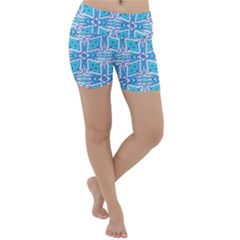 Geometric Doodle 1 Lightweight Velour Yoga Shorts by dressshop