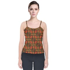 Geometric Doodle 2 Velvet Spaghetti Strap Top by dressshop