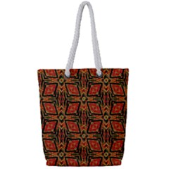 Geometric Doodle 2 Full Print Rope Handle Tote (small) by dressshop