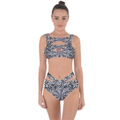 Animal Print 1 Bandaged Up Bikini Set  by dressshop