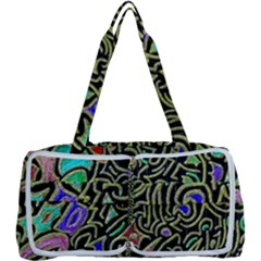 Swirl Retro Abstract Doodle Multi Function Bag by dressshop
