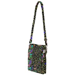 Swirl Retro Abstract Doodle Multi Function Travel Bag by dressshop