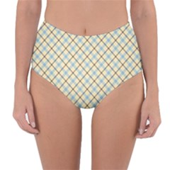 Plaid 2 Reversible High Waist Bikini Bottoms by dressshop
