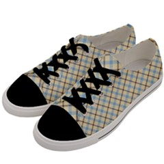 Plaid 2 Men s Low Top Canvas Sneakers by dressshop