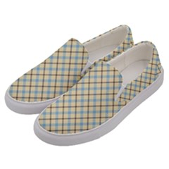 Plaid 2 Men s Canvas Slip Ons by dressshop