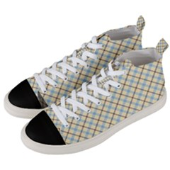 Plaid 2 Men s Mid Top Canvas Sneakers by dressshop