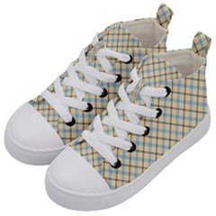Plaid 2 Kid s Mid Top Canvas Sneakers by dressshop