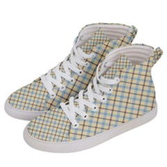 Plaid 2 Women s Hi Top Skate Sneakers by dressshop