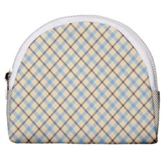 Plaid 2 Horseshoe Style Canvas Pouch by dressshop