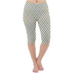 Plaid 2 Lightweight Velour Cropped Yoga Leggings by dressshop