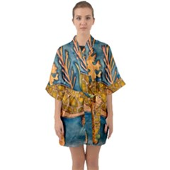 Turty- All Quarter Sleeve Kimono Robe by ArtByAng