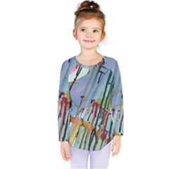 Chaos In Colour  Kids  Long Sleeve Tee by ArtByAng