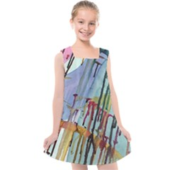 Chaos In Colour  Kids  Cross Back Dress by ArtByAng