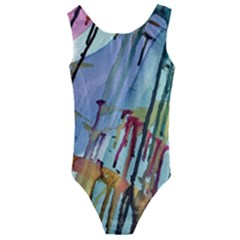 Chaos In Colour  Kids  Cut Out Back One Piece Swimsuit by ArtByAng