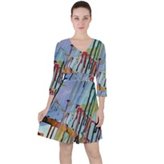 Chaos In Colour  Ruffle Dress