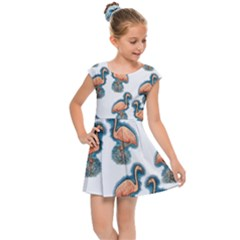 Flaming Gogo Kids Cap Sleeve Dress by ArtByAng