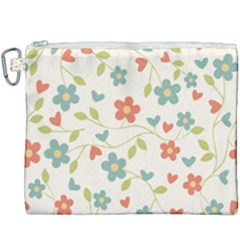 Flowers Pattern Canvas Cosmetic Bag (xxxl) by Hansue