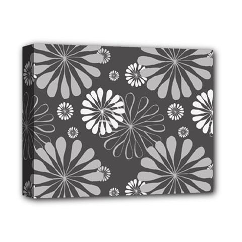 Floral Pattern Deluxe Canvas 14  X 11  (stretched)