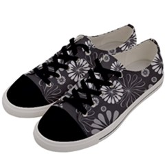 Floral Pattern Men s Low Top Canvas Sneakers by Hansue