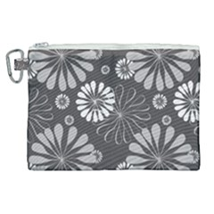 Floral Pattern Canvas Cosmetic Bag (xl) by Hansue