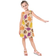 Acorn Pattern Kids  Sleeveless Dress by Hansue