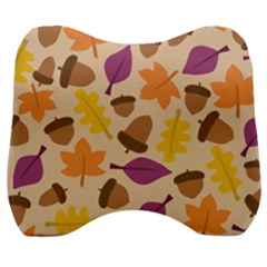 Acorn Pattern Velour Head Support Cushion by Hansue