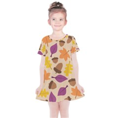 Acorn Pattern Kids  Simple Cotton Dress by Hansue