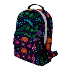 Colorful Pattern Flap Pocket Backpack (large) by Hansue