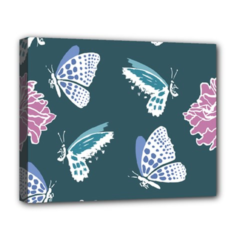 Butterfly  Deluxe Canvas 20  X 16  (stretched) by Hansue