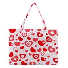 Hearts Medium Tote Bag by Hansue