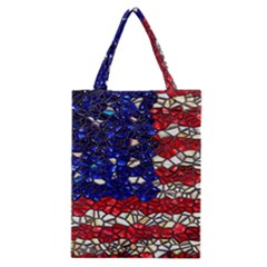 American Flag Mosaic Classic Tote Bag by bloomingvinedesign